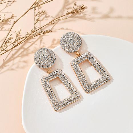 diamond geometric square  earrings  NHGY292131's discount tags