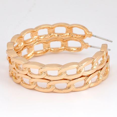 Boucles d'oreilles creuses en chaîne en alliage en forme de C NHJE291943's discount tags