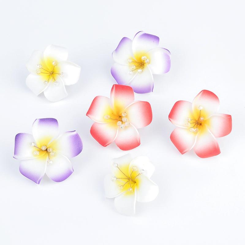 alloy sponge flower earrings NHJE291944