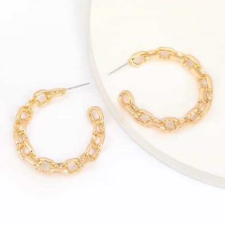 Boucles d'oreilles fantaisie en alliage en forme de C NHJE291950's discount tags