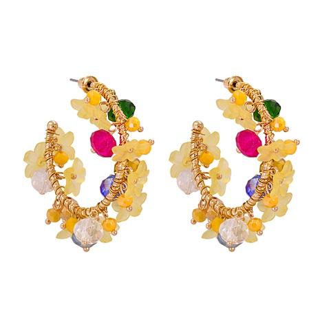 boucles d'oreilles en forme de c fleur NHJJ291953's discount tags