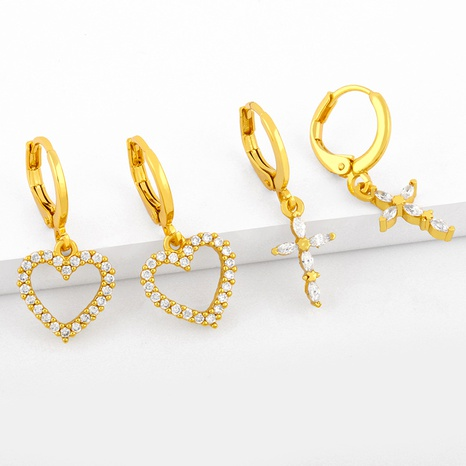 boucles d'oreilles diamant coeur NHAS291978's discount tags