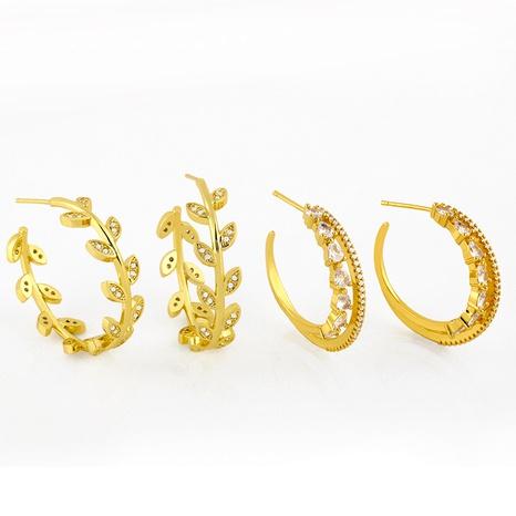 boucles d'oreilles rondes en diamant NHAS291979's discount tags