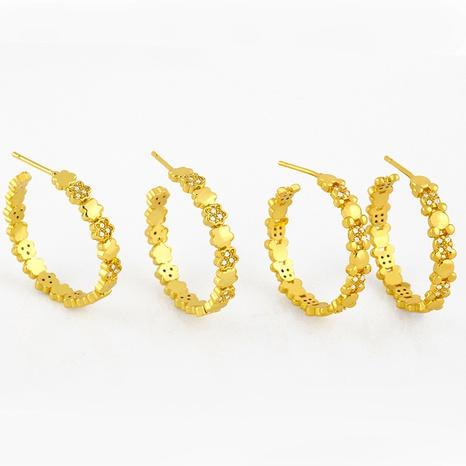 boucles d'oreilles diamant rétro en forme de C NHAS291982's discount tags