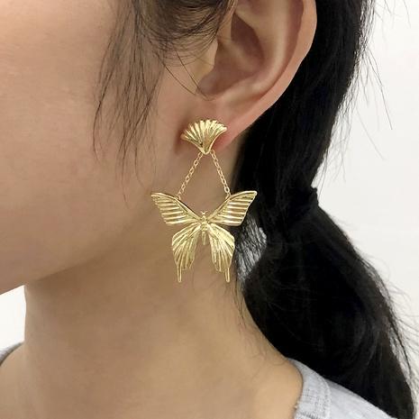 boucles d'oreilles papillon simples créatives rétro NHMD291995's discount tags