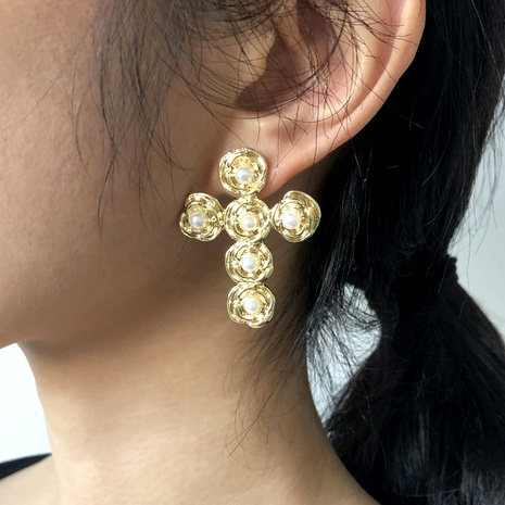 boucles d'oreilles simples en gros NHMD291997's discount tags