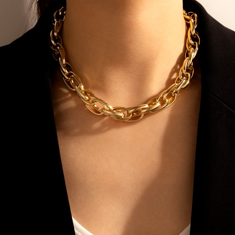 hip hop simple thick chain necklace  NHGY292007's discount tags