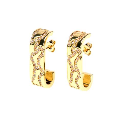boucles d'oreilles diamant arc irrégulier NHPY292026's discount tags
