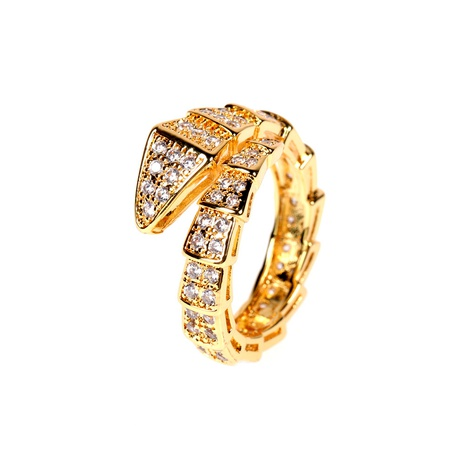 snake-shaped diamond  ring  NHPY292035's discount tags