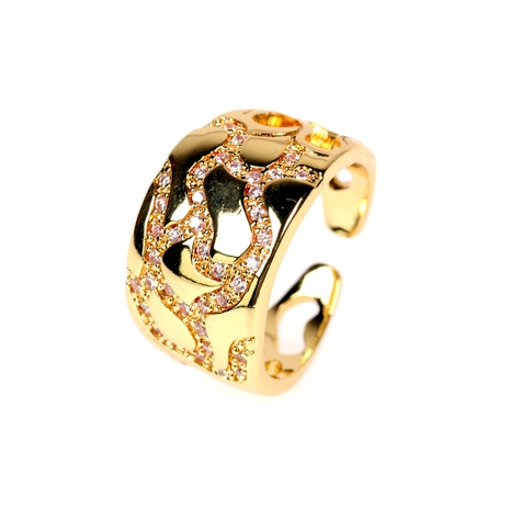 new diamond irregular camouflage arc opening ring  NHPY292036's discount tags