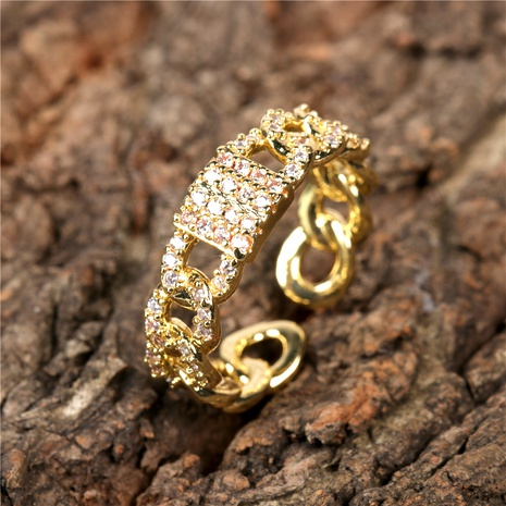 new creative hollow full diamond inlaid zircon 8 word ring  NHPY292038's discount tags