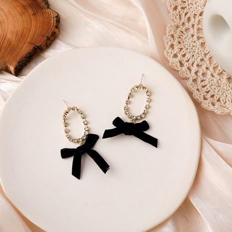 black velvet bow diamond earrings NHMS292053's discount tags