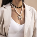 multilayer imitation pearl necklace NHXR292065