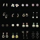fashion pearl zircon earrings  NHGO292099