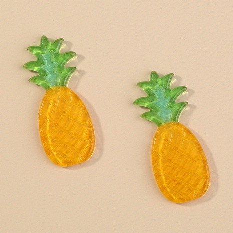 cartoon pineapple earrings NHAN292200's discount tags