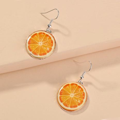 boucles d'oreilles mignonnes mode orange NHAN292201's discount tags