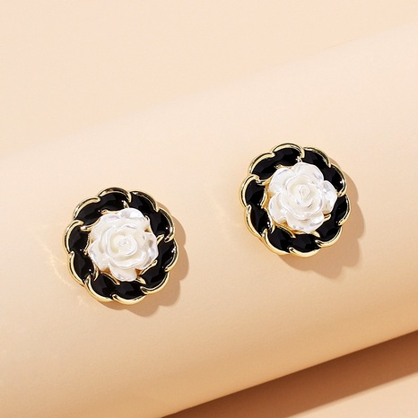 Fashion resin flower earrings  NHRN292298's discount tags