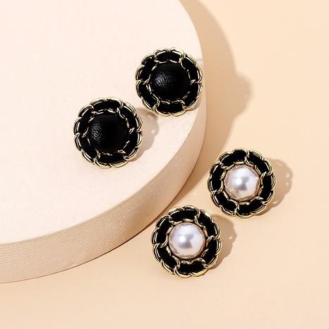 vintage velvet pearl earrings NHRN292302's discount tags