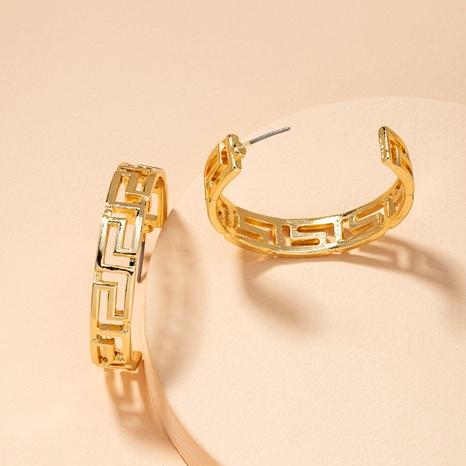 boucles d'oreilles demi-cercle métalliques NHAI292305's discount tags