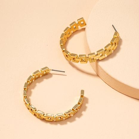 boucles d'oreilles simples en forme de C NHAI292306's discount tags