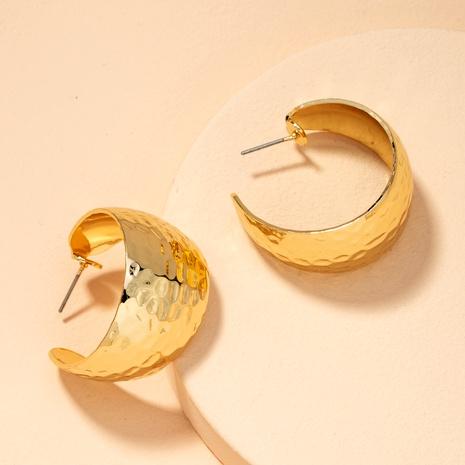 boucles d'oreilles en métal en forme de c NHAI292309's discount tags