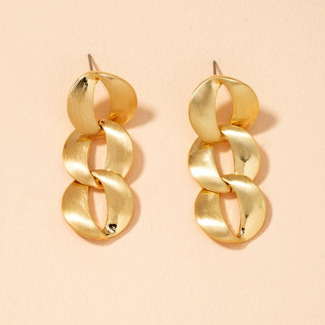 golden chain style earrings NHAI292311's discount tags