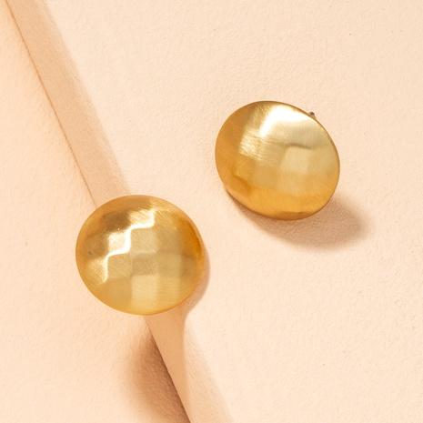boucles d'oreilles rondes simples en métal NHAI292312's discount tags