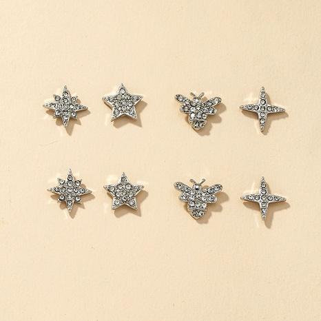 Fashion Star Bee Diamond Earrings Set NHGU292314's discount tags