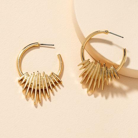 Boucles d'oreilles en métal de mode NHGU292325's discount tags