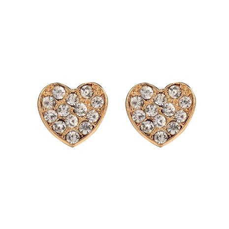 Legierung Diamant Herz Ohrstecker NHOA292340's discount tags