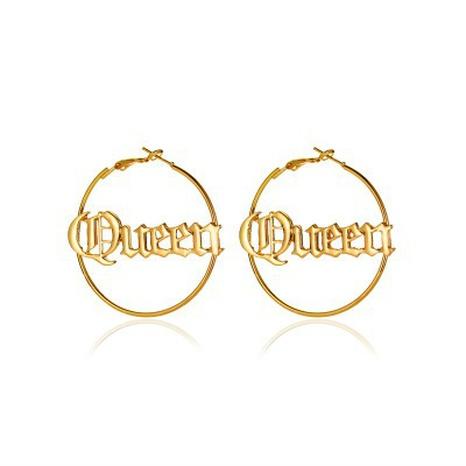 boucles d'oreilles lettre reine NHCU292394's discount tags