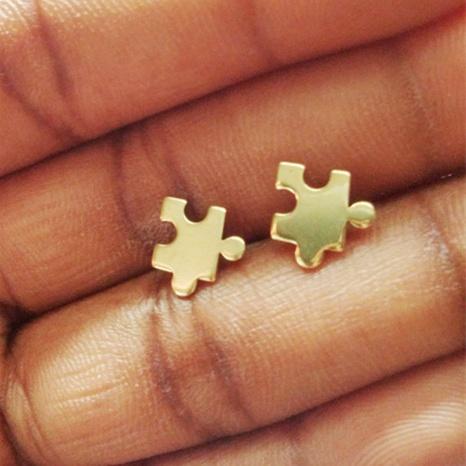 boucles d'oreilles en alliage de puzzle en gros NHMO292427's discount tags