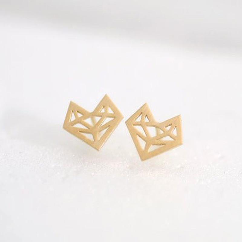 alloy hollow fox head earrings  NHMO292428