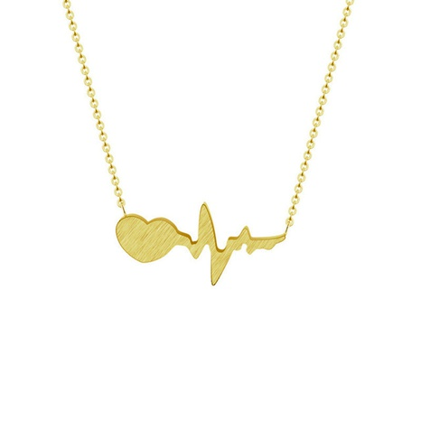 heartbeat curve pendant necklace NHMO292436's discount tags