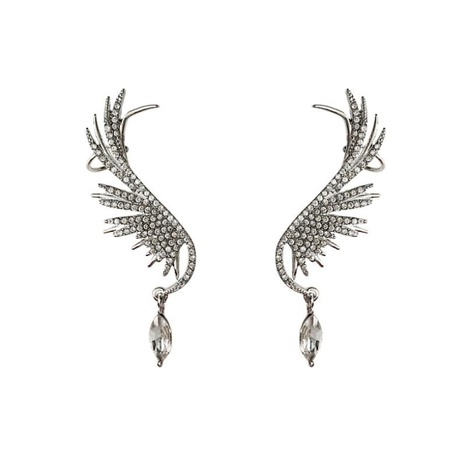 925 Silver Needle Angel Wing Earrings  NHNT292458's discount tags