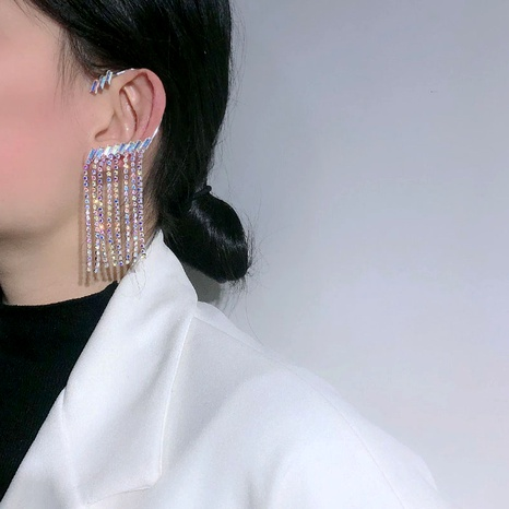 rhinestone tassel earrings NHNT292467's discount tags