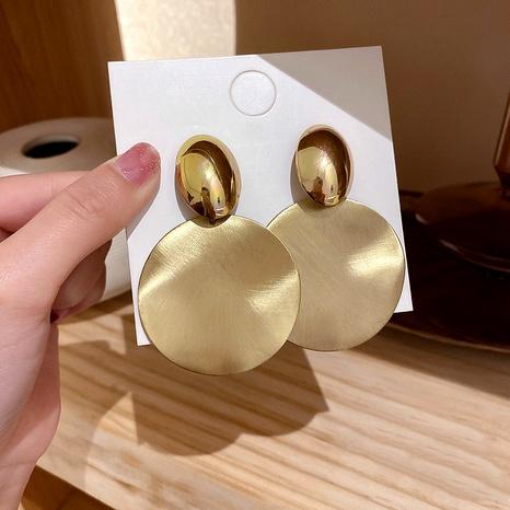 Boucles d'oreilles créoles géométriques à aiguilles en argent 925 Boucles d'oreilles à grands disques en métal NHQC292473's discount tags