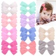 new bow pure color cotton  knotted side clip  NHMO292590