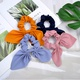simple rabbit ears silk satin hair scrunchies NHMO292593
