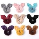 rabbit ears imitated rabbit fur hair ring NHDM292622
