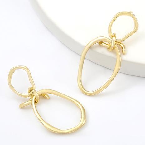boucles d'oreilles rondes irrégulières en alliage NHJE292639's discount tags