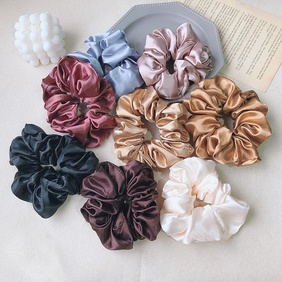 simple satin retro hair scrunchies NHOF292728