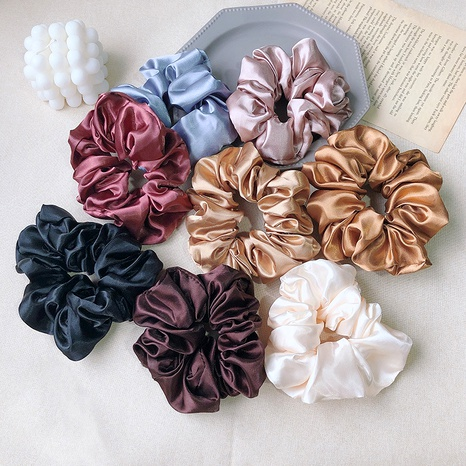 simple satin retro hair scrunchies NHOF292728's discount tags