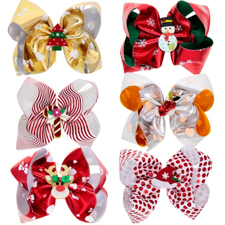 Christmas  children's color flash big bow hairpin  NHWO292733's discount tags