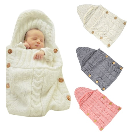 Babywickeldecke Babywolle Schlafsack Kinderfotografie Wollknopfverpackungsdecke NHWO292737's discount tags