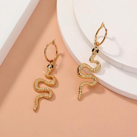 boucles d'oreilles fantaisie en forme de serpent NHAN292801's discount tags