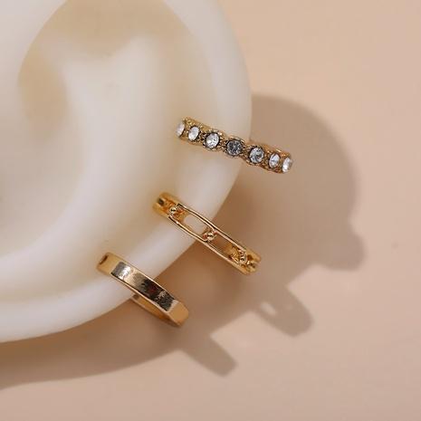 simple zircon ear clip set NHLL292822's discount tags
