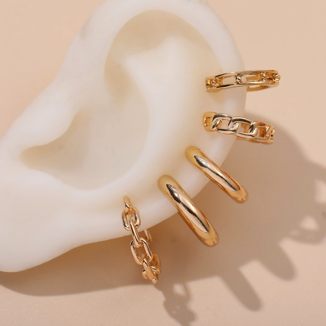 fashion simple twisted C-shaped ear clip five-piece set NHLL292825's discount tags
