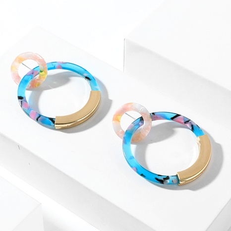 big circle alloy earrings  NHLL292830's discount tags