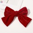 NHDM1321018-C143-Gold-Velvet-Bow-Hairpin-Big-Red